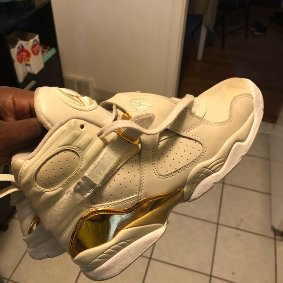 dad3a32f2be Jordan Other - Jordan 8 s limited edition grey and gold size 5